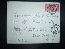 LETTRE Pour USA TP MARIANNE DE MULLER 15F Paire OBL.15-12 1956 CHAMPCUEIL SEINE ET OISE (91 ESSONNE) - Marcofilia (sobres)