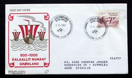 Greenland 1982    Erik Den Røde (Viking Ships, Birds)   MiNr.137   FDC      ( Lot Ks  ) - FDC