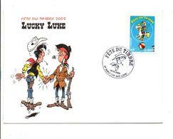 FDC 2003 FETE DU TIMBRE BD LUCKY LUKE - SAINT CYR SUR LOIRE - 2000-2009