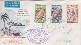 Vol Expérimental Samoa-Wallis Gilbert-Ellice, Obl. Mata-Utu Le 24 -9 1967 + Cachet Spécial Et Signature - Airmail