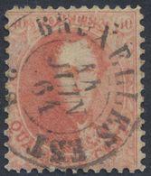 """Médaillon Dentelé - N°16 Obl Double Cercle """"Bruxelles Est"""" (1864). Superbe / Dentelure Non Vérifiée. - 1863-1864 Medallions (13/16)"""