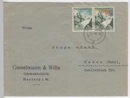 (B772) Bedarfsbrief DR, Firma Gieselmann & Wille, Herford I.W., 1938 - Briefe U. Dokumente