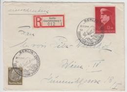 (B876) Bedarfsbrief DR, R-Brief Mit Mi 772, Sonderstempel Berlin 1941 - Cartas