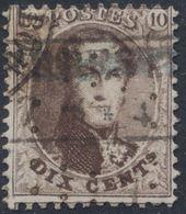 Médaillon Dentelé - N°14 Annulé Par Encadré Prussien (Bureau De Herbesthal). A Examiner ! - 1863-1864 Medaillons (13/16)