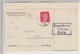 (B1557) Bedarfsbrief DR, RA Keller, Tübingen, 1944 - Cartas