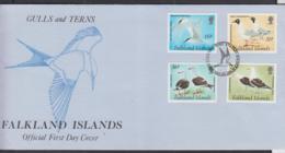 FALKLAND ISLANDS - 1993 - GULLS AND TERNS  SET OF 4  ON   ILLUSTRATED FDC - Falkland