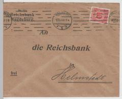 (B2220) Bedarfsbrief Deutsches Reich INFLA, Reichsbank Magdeburg 1923 - Germania