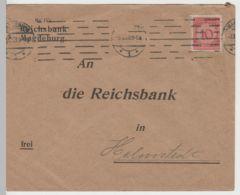 (B2231) Bedarfsbrief Deutsches Reich INFLA, Reichsbank Magdeburg 1923 - Germania