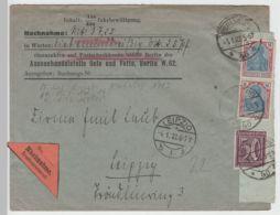 (B2250) Bedarfsbrief Nachnahme DR Berlin NW Nach Leipzig 1922 - Cartas