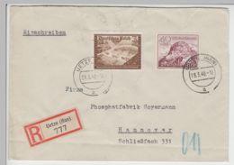 (B2321) Bedarfsbrief R-Brief DR, Stempel Uetze (Han), 1940 - Alemania