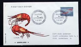 Greenland 1982   Marine Life, Deep See Shrimps   MiNr. 133   FDC  (lot Ks) - FDC