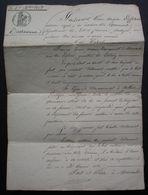 Marmande 1828 Lot-et-Garonne Testament De François Lérin, Marin En Faveur De Guiterie Lartigue Son épouse - Manuscrits
