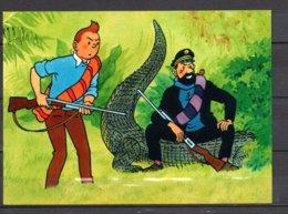 Tintin Et Le Temple Du Soleil - Tintin Avec Haddock Assis Sur Un Crocodile - Editions Yvon N° 16 - Bandes Dessinées