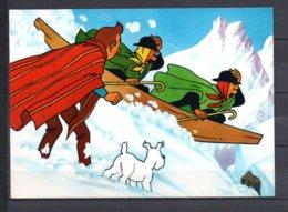 Tintin Et Le Temple Du Soleil - Tintin Et Dupont En Pirogue Crocodile - Editions Yvon N° 14 - Stripverhalen