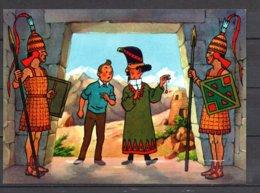 Tintin Et Le Temple Du Soleil - Tintin Et Tournesol Avec Deux Gardes - Editions Yvon N° 11 - Stripverhalen