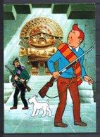 Tintin Et Le Temple Du Soleil - Tintin Et Haddock Devant L'idole Inca  - Editions Yvon N° 12 - Stripverhalen