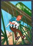 Tintin Et Le Temple Du Soleil - Tintin Sautant Du Viaduc - Editions Yvon N° 13 - Bandes Dessinées