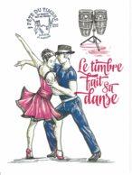 """2014 - Carte De La Poste Pour La Sortie Du Timbre """"LE TIMBRE FAIT SA DANSE"""" - Cachets Commémoratifs"""