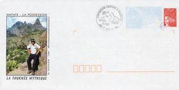 PAP MAFATE-LA POSSESSION (REUNION) : LA TOURNEE MYTHIQUE DU FACTEUR Avec CACHET DE DEPÖT Et Oblitération ORIGINE RURALE - Prêts-à-poster:Overprinting/Luquet