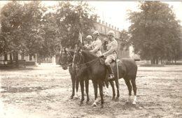 Carte Photo Militaire à Cheval 54 ème Rac  1925 - Guerre, Militaire