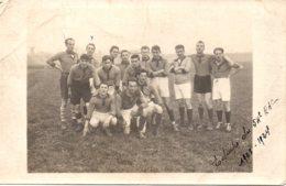 Carte Photo équipe De Rugby Du 54èmé RAC 1923 1924 - Guerre, Militaire