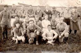 Carte Photo équipe De Rugby Du 54ème RAC 1923 1924 - Guerre, Militaire