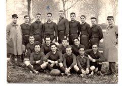 Carte Photo équipe De Rugby  Du 54ème RAC - Guerre, Militaire