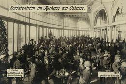 RPPC 17*12cm SOLDATENHEIM KURHAUS OSTENDE OOSTENDE   Paul Hoffmann 1914/15  WWI WWICOLLECTION - Oostende