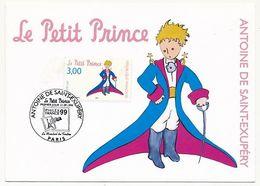 Carte Maximum 1998 (entier) - Le Petit Prince - Paris - 12/9/1998 - 1990-99