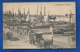 BORDEAUX   La Rade   Attelage      Animées   écrite En 1918 - Bordeaux