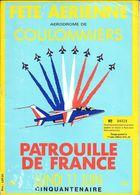 Programme Fête Aérienne Aérodrome Coulommiers Avec Patrouille De France 11 Juin 1984 Cinquantenaire Numéroté 28 Pages - Programme