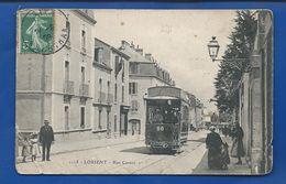 LORIENT     Rue Carnot    Tramway        Animées    écrite En 1909 - Lorient