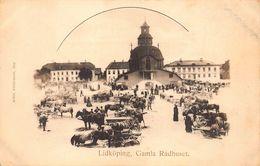 LIDKOPING SWEDEN~GAMIA RADHUSET~1900s ALBIN ANDERSSON PHOTO  POSTCARD 47600 - Sweden