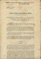 UNIVERSAL POSTAL UNION POST OFFICE INFORMATION ST HELENA 1907/1924 - Isola Di Sant'Elena