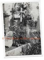 TOMBE DU SERGENT AUGUSTIN EMILE PONROY 13 RI NE A QUINCY MORT POUR LA FRANCE COMMERCY HOPITAL - PHOTO 8.5*6 CM - Guerre, Militaire