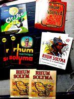 RHUM ALCOOLS 10 ETIQUETTES PUBLICITE POUR LES RHUMS ANGUILLA SOLYMA ET LE CITRON CIT'SEC DOUBLES - Werbung
