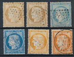 DP-334: FRANCE: Lot Obl Avec  N°36/38 (2 Teintes), Trés Léger Clair Sur Un N°36 - 1870 Siege Of Paris