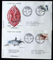 Greenland 1982  Millenium Jub. Whaling/Bishop-stick  MiNr.138-39   FDC      ( Lot Ks  ) - FDC