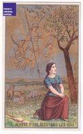 Jolie Chromo Dorée Chicorée Voelcker Coumes Bayon - Jeanne D'Arc écoutant Les Voix - Ange Mouton Brebis Prairie A37-93 - Thee & Koffie