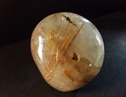 Rutile In Smoky Quartz ( 6 X 6 X 4 Cm ) Polished Specimen - Novo Horizonte - Brasil - Minerales