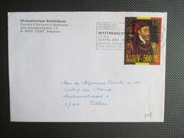 2887 - Karel V, Gulden Vlies - Alleen Op Brief Uit Gent (vlagstempel Mattheuspassie) Naar Pittem - Brieven En Documenten