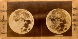 Stereo, The Moon, William Moody Chase, Excelsior Stereo Views - Visionneuses Stéréoscopiques
