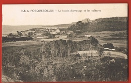 83- ILE DE PORQUEROLLES- Le Bassin D'arrosage Et Les Cultures -  Scans Recto Verso - Porquerolles