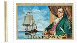 COOK ISLANDS - 1976 Capt Cook American Revolution Mi 489 MNH - Cook Islands