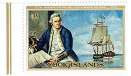 COOK ISLANDS - 1976 Capt Cook American Revolution Mi 488 MNH - Cook Islands