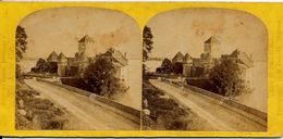 Stereo, Switserland, William England, Alpine Club, Chateau Chillon - Visionneuses Stéréoscopiques