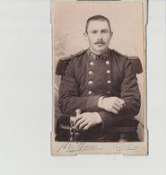 PHOTO  .CDV  .MILITAIRE               PHOT    A. DE MUSSAC   GUERET  78è - Guerre, Militaire