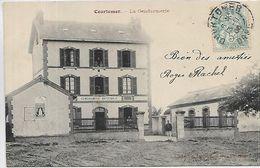 61, Orne, COURTOMER, La Gendarmerie, Scan Recto Verso - Courtomer