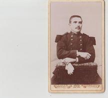 PHOTO  .CDV  .MILITAIRE               PHOT    ABELIN.  BORDEAUX  57è - Guerre, Militaire