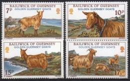 Guernesey - 1980 - Yvert N° 204 à 207 ** - Chèvres Dorées - Guernsey
